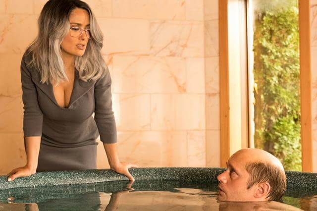 Salma Hayek Alexander Skarsgard The Hummingbird Project